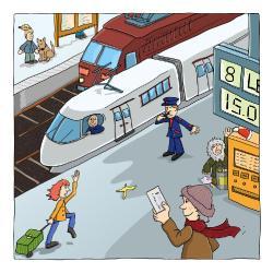 Ich cojieron en el tren