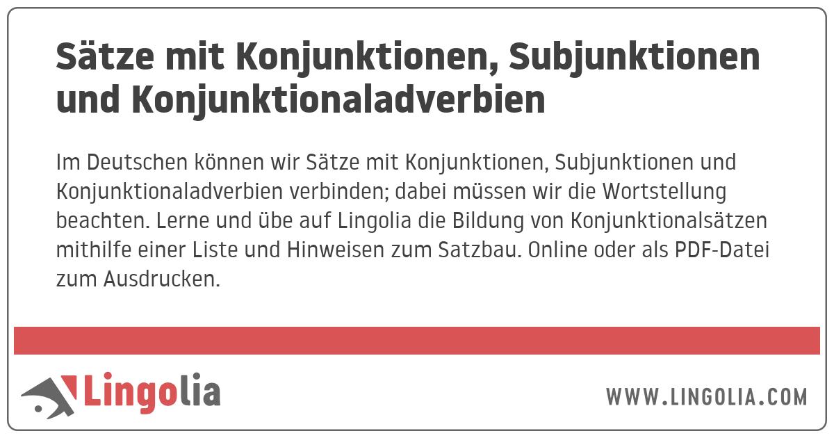Deutsch Lernen Satze Mit Konjunktionen Youtube 10