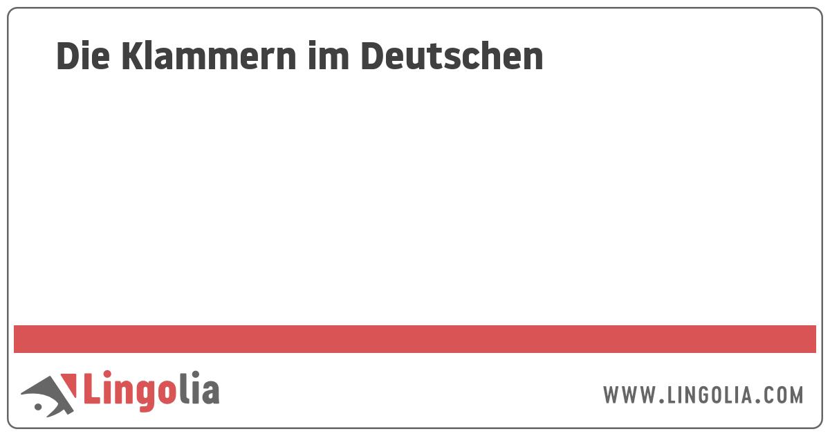 Die Klammern Im Deutschen