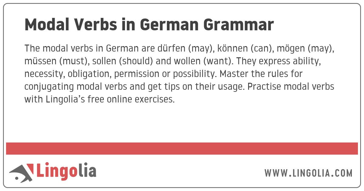 Modal Verbs in German Grammar